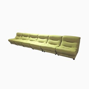 Vintage Italian Modular Sofa Set, Set of 6
