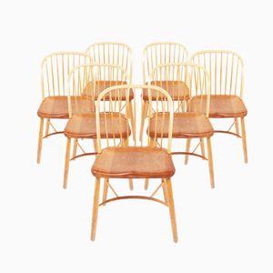 Esszimmerstühle von Palle Suenson für Fritz Hansen, 8er Set