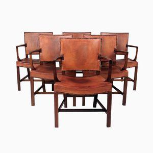 Mahagoni Esszimmerstühle von Kaare Klint für Rud Rasmussen, 6er Set