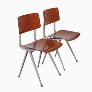 Stühle aus Holz und Metall von Friso Kramer für Ahrend de Cirkel, 1965, 2er Set