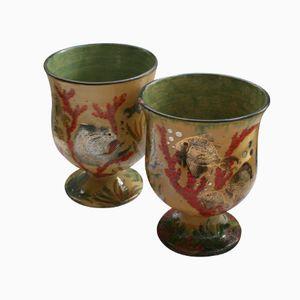 Spanische Vintage Keramik Pokale von Costa Diaz, 1930er, 2er Set