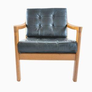 Chaise zeta par paul tuttle pour strassle en vente sur pamono - Fauteuil teck et cuir ...