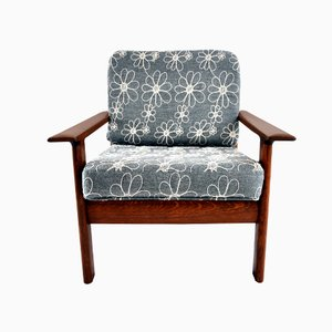 Danish Vintage Teak and Walnut Lounge Chair