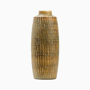 Large Ceramic Cylindrical Vase by Gunnar Nylund for Rorstrand
