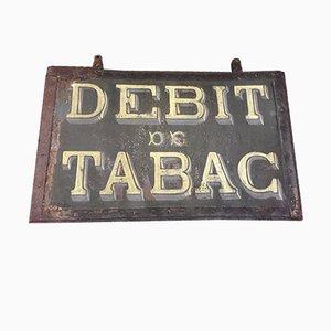 Französisches Doppelseitiges Vintage Tabakwaren Geschäfts- Schild, 1920er