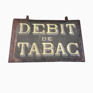 Vintage French Double Sided Tabacco Store Sign, 1920s