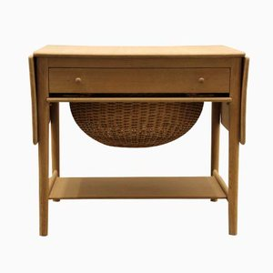 AT33 Sewing Table by Hans J. Wegner for Andreas Tuck