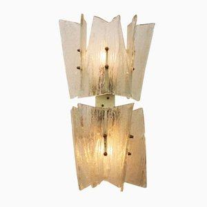 Ice Glass Sconce by J.T. Kalmar for Kalmar, 1960s