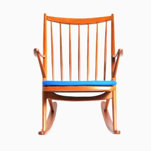 Rocking Chair 182 par Frank Reenskaug pour Bramin Møbler