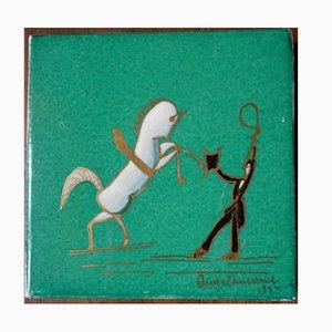 Art Deco Keramikfliese von Gio Ponti für Richard-Ginori, 1933
