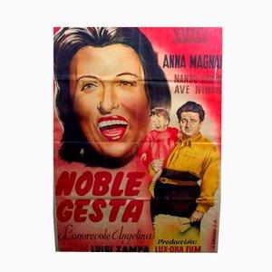 Affiche de Film Anna Magnani Noble Gesta Encadrée, 1947
