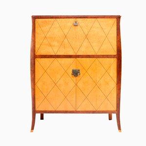 Vintage Art Deco Maple & Burl Cabinet