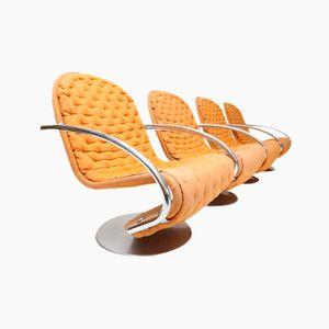 Modell E Stühle von Verner Panton für Fritz Hansen, 1973, 4er Set