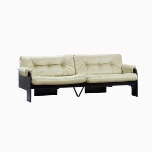 Italian Modern 3-Seater Sofa with Green Velvet Upholstery