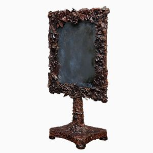 Antique Leather Table Mirror