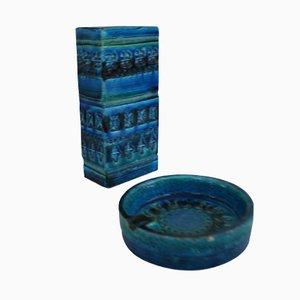 Keramiken aus der Rimini Blue Kollektion von Aldo Londi für Bitossi, 1970er, 2er Set