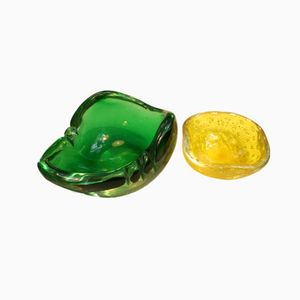 Midcentury Murano Glass Bowls, 1960s, Set of 2