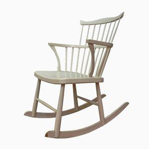 Swedish Pine Rocking Chair, 1960s