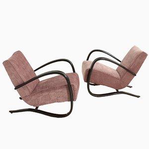 Lounge Stühle von Jindrich Halabala für Thonet, 2er Set