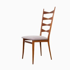 Vintage Teak Dining Chair with Kvadrat Steelcut Fabric