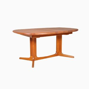 Massive Teak Dining Table from Glostrup, 1960s