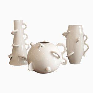 Modell Dealbata Vasen aus Keramik von Alessandro Mendini für Zanotta, 3er Set