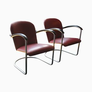 Model 414 Chairs by W.H. Gispen for Gispen, 1950s, Set of 2