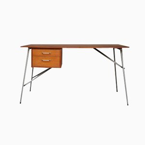 Teak and Metal Desk by Børge Mogensen for Søborgs Møbelfabrik, 1952