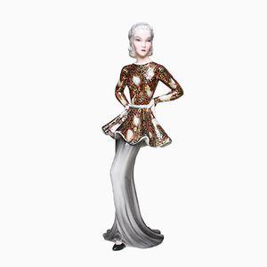 Art Deco Figur Nr. 8169 von Claire Weiss für Goldscheider, 1937
