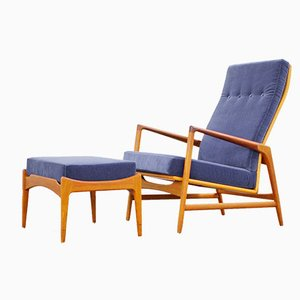 Danish Modern Lounge Chair & Ottoman by Ib Kofod-Larsen for Selig