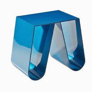 Table d'Appoint No Cardboard Bleu Métallisé par Philipp Käfer