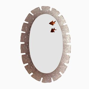 Large Illuminated Mirror by Ernest Igl for Hillebrand