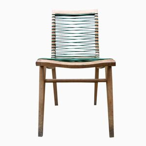 Oak & Plastic Chair by Louis Sognot