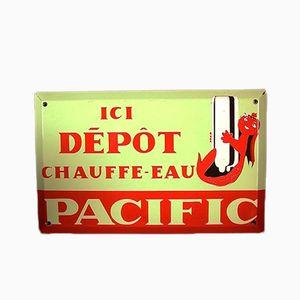 Französisches Emailliertes Pacific Werbeschild
