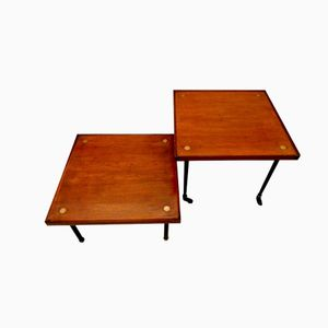 Teak Side Tables by Melchiorre Bega for KLAN, Set of 2