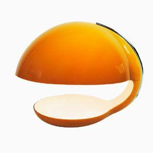 Vintage Tischlampe aus Orangefarbenen Kunststoff von Harvey Guzzini für Guzzini
