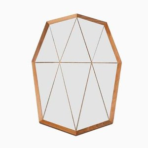 Walnut Groove Mirror by Boris Dennler
