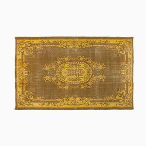 Yellow Overdyed Turkish Rug