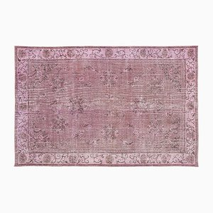 Vintage Turkish Pink Overdyed Rug