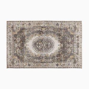 Türkischer Vintage Teppich in Hellem Braun
