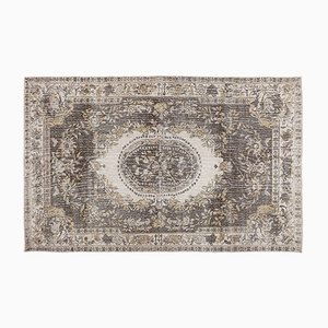 Vintage Turkish Light Brown Overdyed Rug