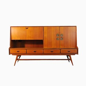 Dutch Teak Highboard by Louis van Teeffelen for WéBé, 1950s