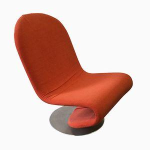 Sedia in alluminio di Verner Panton per Fritz Hansen