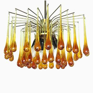 Midcentury Drop Chandelier, 1960s