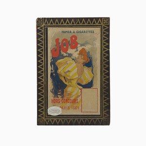 Art Nouveau Werbeplakat auf Karton für JOB Cigarettes von Jules Cheret, 1889