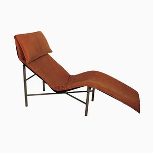 Brown Leather Chaise Longue by Tord Bjorklund, 1970s