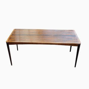 Low Rosewood Coffee Table by Haug Bruksbo