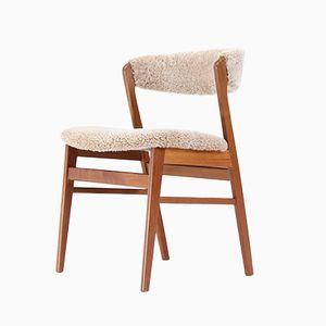 Vintage Sheepskin Side Chair, 1960s