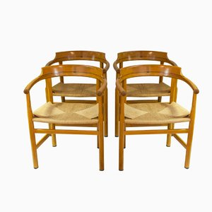 PP62 Danish Side Chairs by Hans J. Wegner, 1960s, Set of 4
