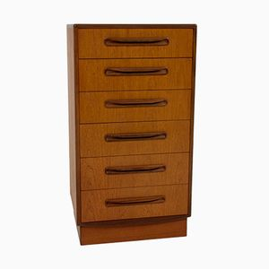 Tall Teak Chest of Drawers by Victor Wilkins for G-Plan, 1960s